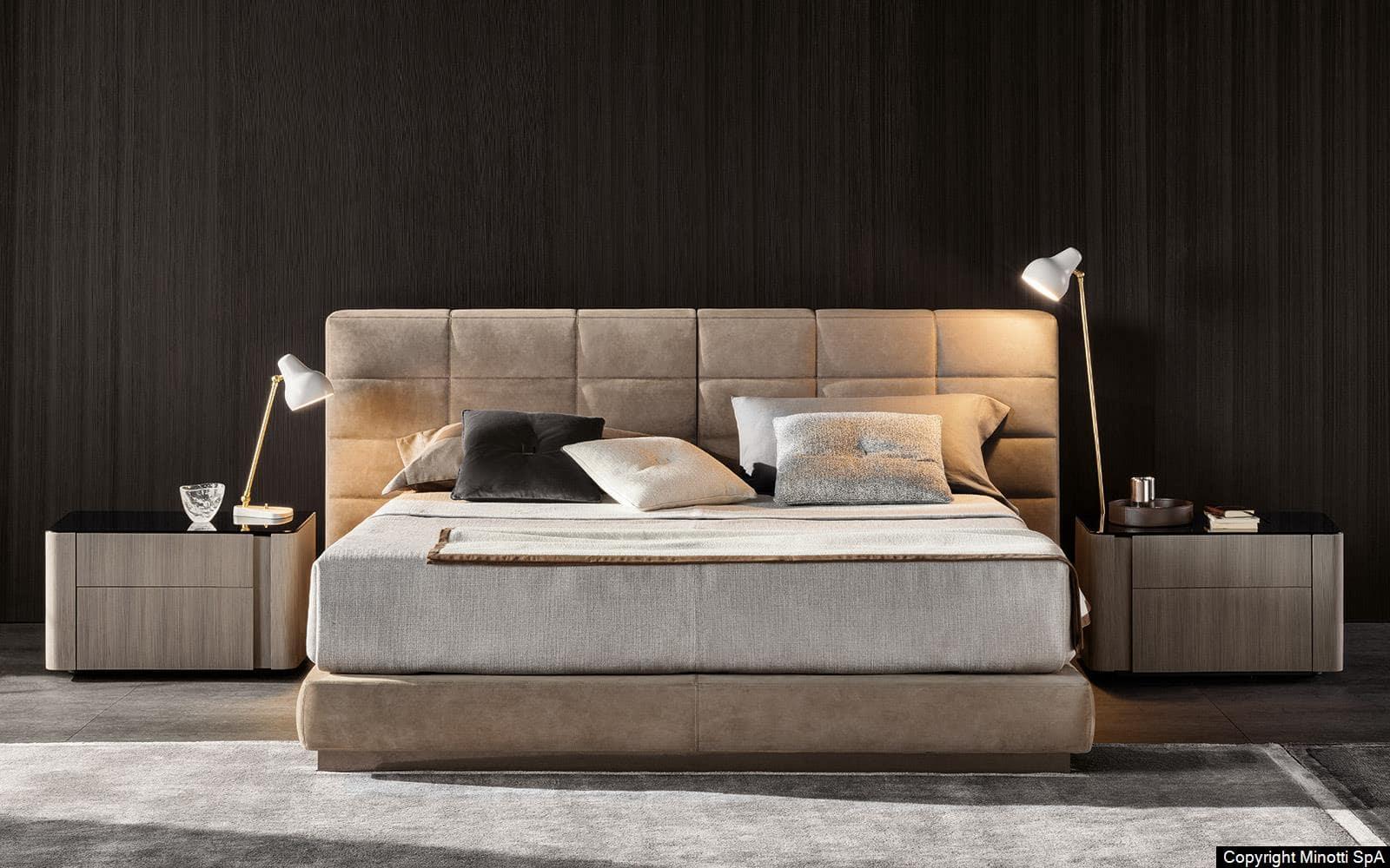 Không gian phòng ngủ trở nên ấn tượng với kiểu dáng giường thanh lịch