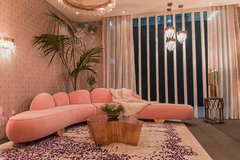 Thiết kế nội thất sử dụng màu cam san hô (Living Coral) màu chủ đạo của năm 2019