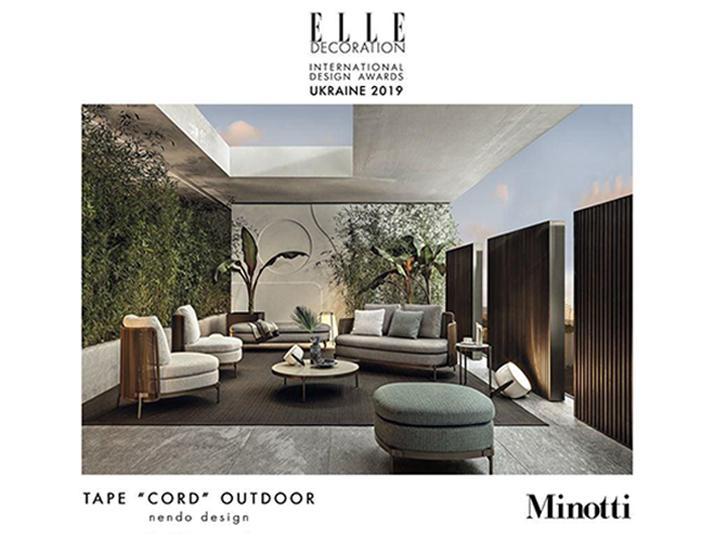 Minotti đạt giải thưởng quốc tế Elle