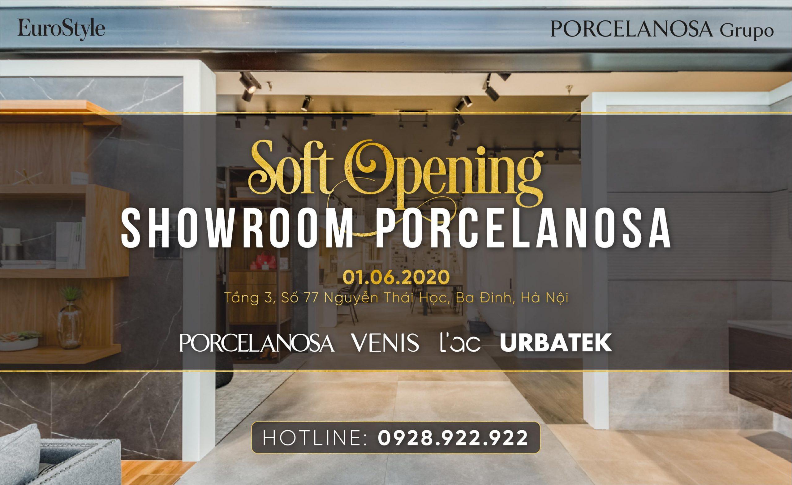 EuroStyle khai trương showroom gạch cao cấp PORCELANOSA (Tây Ban Nha) tại Hà Nội